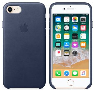 iPhone 8 / 7 Leather Case - Midnight Blue (mqh82zm/a)