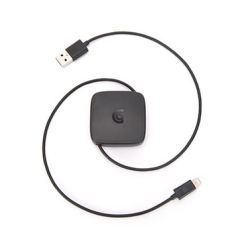 Griffin Retractable Lightning to USB adapter Charging/Data CABLE Black 0,68 m. (685387379712)