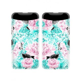 DESIGN POWER BANK FLOWERS 3 MULTICOLORED