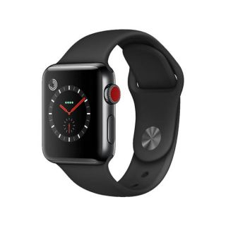 Apple Watch Series 3 MQLW2 LTE 38mm Space Black Stainless Black Sport Band (GPS+Cellular) (EU ADAPTER)