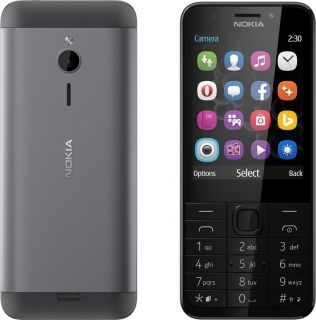 Nokia 230 Single Sim Dark Silver (EU ADAPTOR)(Αγγλικό Μενού)