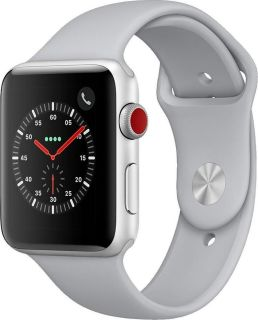 APPLE WATCH SERIES 3 (GPS + CELLULAR) SILVER ALUMINUM 42MM WHITE SPORT BAND (MTH12QL/A)