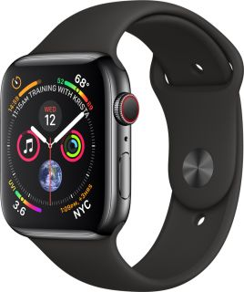 APPLE WATCH SERIES 4 GPS + 4G 40MM SPACE GREY STAINLESS STEEL + SPORT BLACK BAND MTVL2TY/A