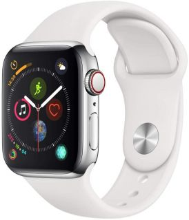 APPLE WATCH SERIES 4 + CELLULAR - 40MM SILVER/SPORT WHITE MTVJ2TY/A