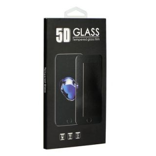 5D Full Glue Tempered Glass - iPhone X Privacy white