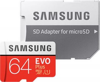 Samsung Evo Plus microSDXC 64GB U3 with Adapter (2020) MB-MC64HA/EU