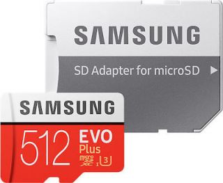 Samsung EVO Plus microSDXC 512GB U3 with Adapter (2020) MB-MC512HA/EU