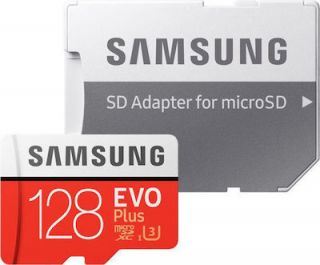 Samsung Evo Plus microSDXC 128GB U3 with Adapter (2020) MB-MC128HA/EU