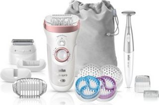 Braun Silk Epil 9 & Facial Brush Rose Gold Ses9/880 + 8 Extras + Pouch (4210201190189)