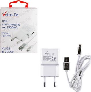 VOLTE-TEL LIGHTNING(ΦΟΡΤΙΣΗΣ-DATA VCD05+TRAVEL VLU25 2500mA)iOS11 WHITE