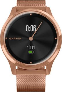 Garmin Vivomove Luxe 42mm (Milanese with 18K Rose Gold Hardware) 010-02241-24