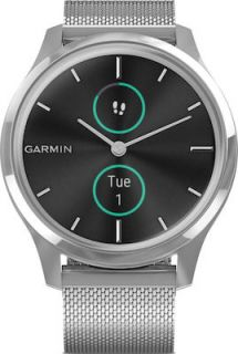 Garmin Vivomove Luxe 42mm (Milanese with Silver Hardware) 010-02241-83