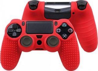 SENSO SILICONE ANTI-SKIDDING CASE FOR PS4 red