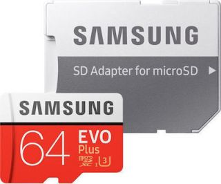 Samsung EVO plus 64GB MicroSDXC Card with adapter Class 10