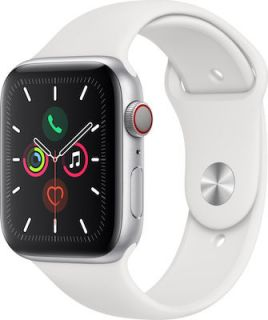 APPLE WATCH SERIES 5 ALUMINIUM CELLULAR 44MM (WHITE) MWWC2