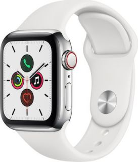 APPLE WATCH SERIES 5 STEEL CELLULAR 40MM (WHITE) MWX42